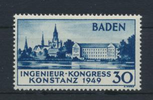 Französische Zone Baden 46 Ingenieurkongress Originalgummi ungebraucht 340,00 0
