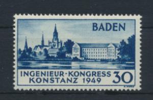 Französische Zone Baden 46 Ingenieurkongress Originalgummi ungebraucht 340,00