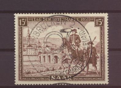 Saarland Tag der Briefmarke 305 Luxus SST Vollstempel Kat.-Wert 24,00 0