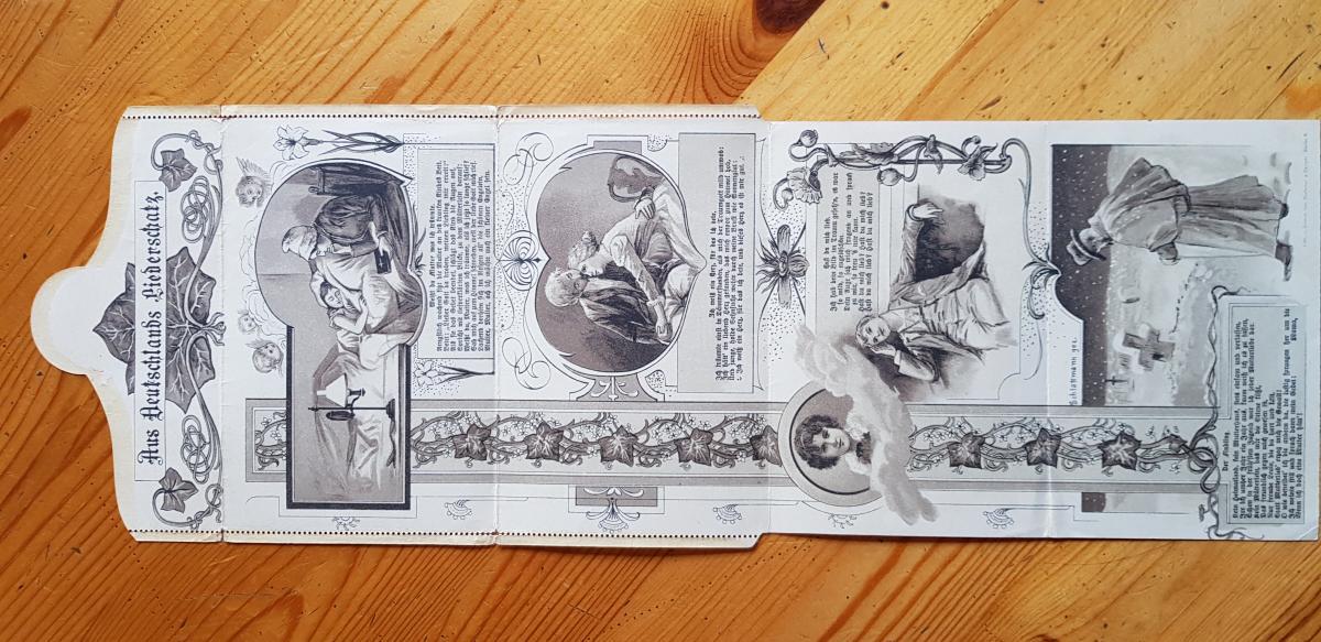 Jugendstil Art Nouveau Deutsches Reich Kartenbrief ohne Wertstempel Verlag   0