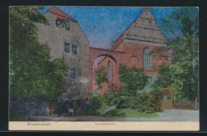 Ansichtskarte Wolmirstedt Schloßkirche Sachsen-Anhalt Verlag Oswald Bernhardt