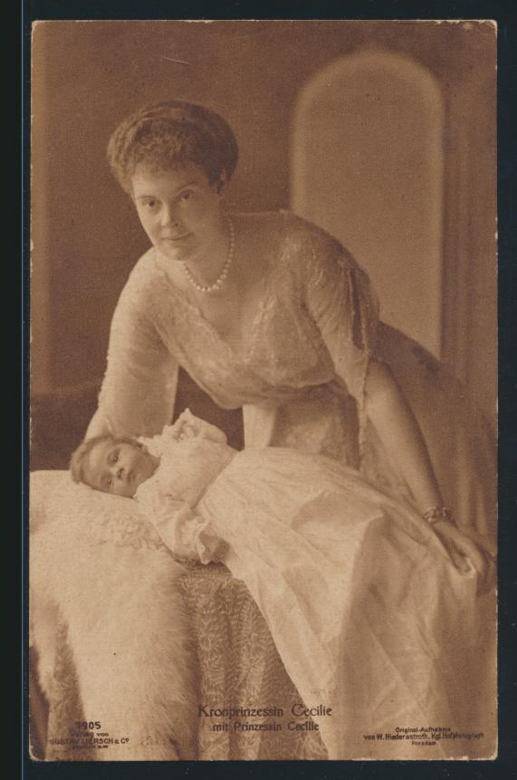 Ansichtskarte Kronprinzessin mit Prinzessin Cecilie Adel Monarchie 0