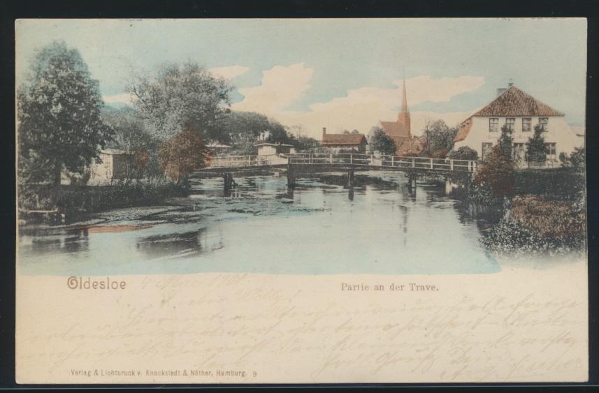 Ansichtskarte Oldesloe Trave Schleswig Holstein 1900 nach Bürgel 0
