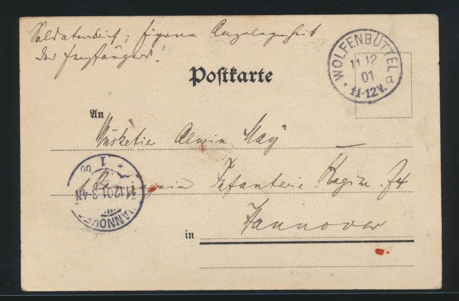 Ansichtskarte Postsache Meiningen Selbstverlag Starkloff Ober Postassistent  1