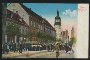 Ansichtskarte Dessau Sachsen Anhalt Aufziehen der Hauptwache per Feldpost