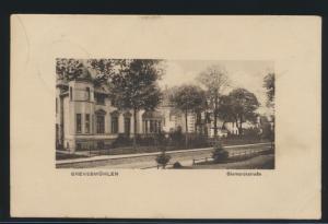 Ansichtskarte Grevesmühlen Bismarckstraße Mecklenburg nach Boltenhagen 9.10.1915