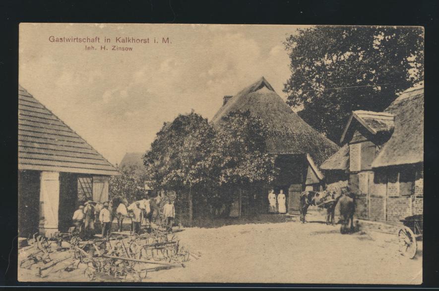 Ansichtskarte Kalkhorst Mecklenburg Gastwirtschaft H. Zinsow  0