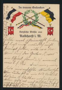 Ansichtskarte Kalkhorst Mecklenburg In treuen Gedenken nach Dassow 1915
