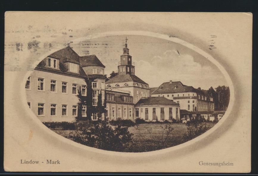 Ansichtskarte Lindow Mark Genesungsheim Brandenburg Berlin 24.7.1925 0