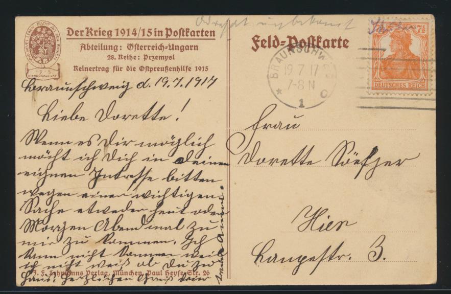 Ansichtskarte Przemysl Galizien Polen Einzug der siegreichen deutschen Truppen  1