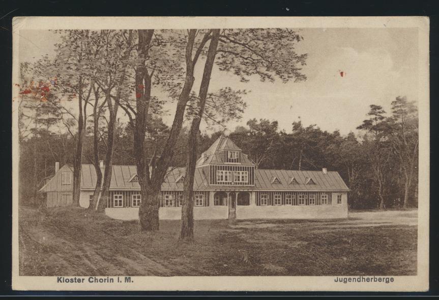 Ansichtskarte Kloster Chorin Mecklenburg Jugendherberge nach Berlin 25.6.1928 0
