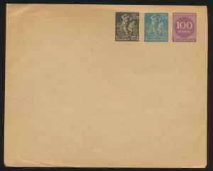 Deutsches Reich Privatganzsache Umschlag PU 93 A 1 02 Arbeiter + Ziffer