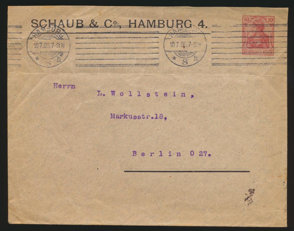 Deutsches Reich Privatganzsache Umschlag PU 27 B 43 jedoch 161:127 U=72 mm 0
