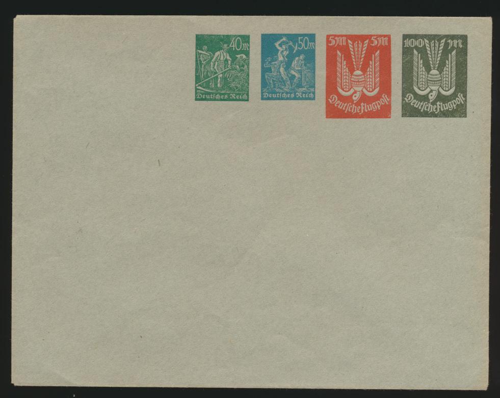 Deutsches Reich Privatganzsache Umschlag PU 96 A 2 Arbeiter + Holztaube 0