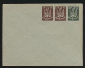 Deutsches Reich Privatganzsache Umschlag PU 95 A 2 Holztaube