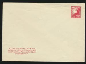 Reich Privatganzsache Umschlag PU 143 C 1 Flugpost Ausstellung Berlin Neukölln