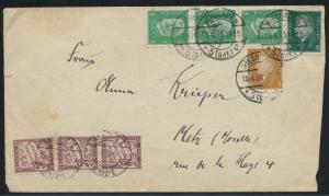 Deutsches Reich Nachporto Brief nach Metz Frankreich Portomarken Cover to France