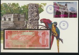 Geldschein Banknote Banknotenbrief Honduras Südamerika Vögel  exotisches Motv