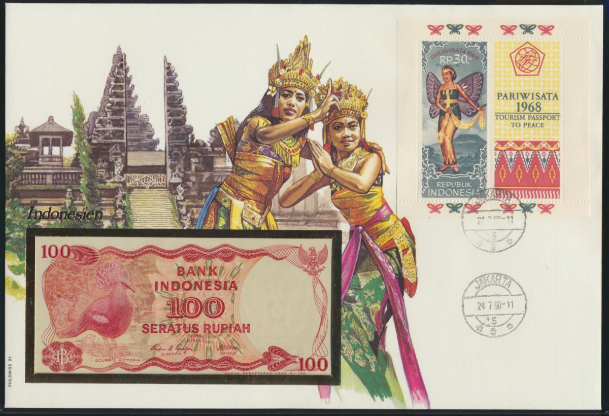 Geldschein Banknote Banknotenbrief Indonesien Indonesia Asia exotisches Motv  0