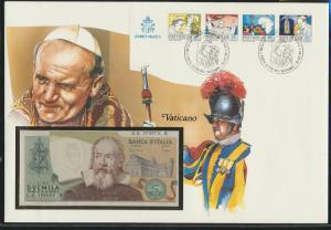 Geldschein Banknote Banknotenbrief Vatikan Vatican exotisches Motv