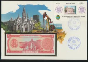 Geldschein Banknote Banknotenbrief Venezuela exotisches Motv
