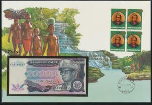 Geldschein Banknote Banknotenbrief Zaire Kongo Afrika Africa exotisches Motiv