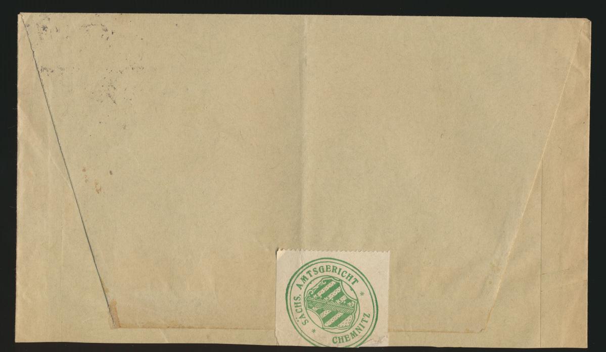 Reich Brief MEF Dienst D 101 Viererblock Chemnitz auf Zustellurkunde 25.9.1924 1