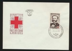 Saarland 343 Rotes Kreuz Dunant Friedensnobelpreisträger FDC