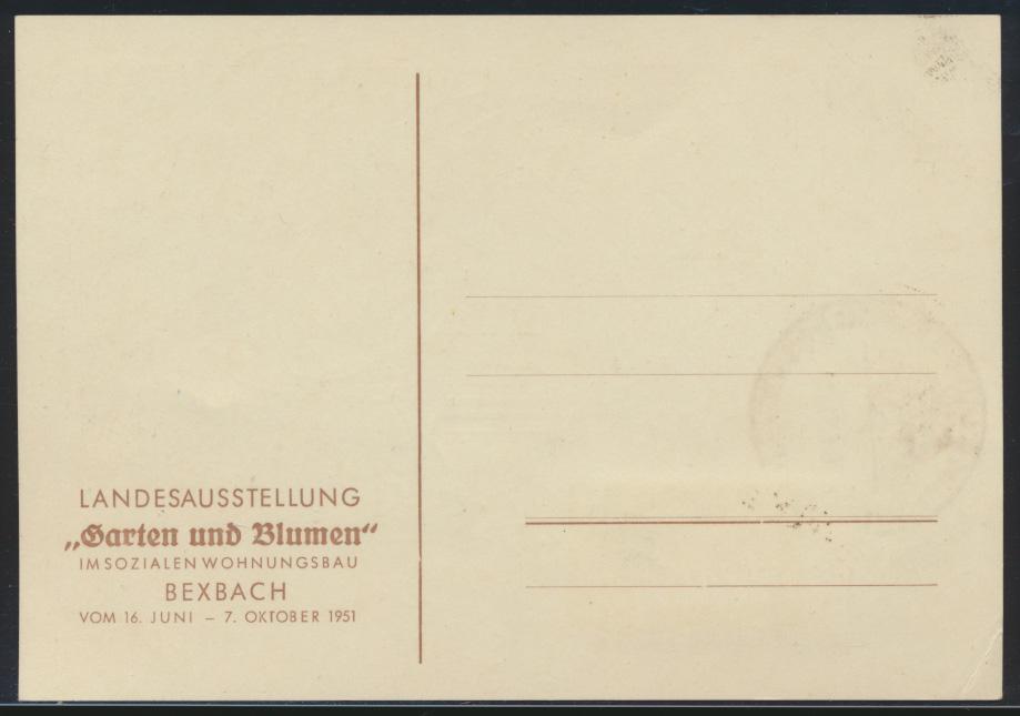 Saarland Brief 307 gute Anlaßkarte Ausstellung Garten Blumen Maximumkarte FDC 1