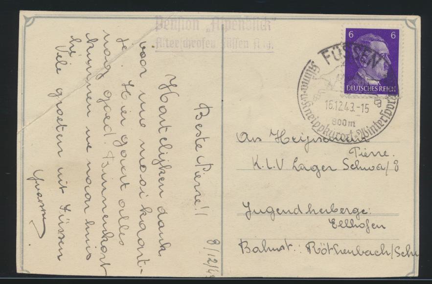 Flugpost air mail Deutsches Reich Ansichtskarte Flugzeugführer selten die  1