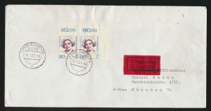 Berlin Eilboten Brief  844 Frauen Paar Bogenecke Eckrand Schmiedeberg München
