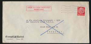 Besetzung Deutsche Dienstpost Niederlande K1 13 11 5 1942 dd EF Deutsches Reich