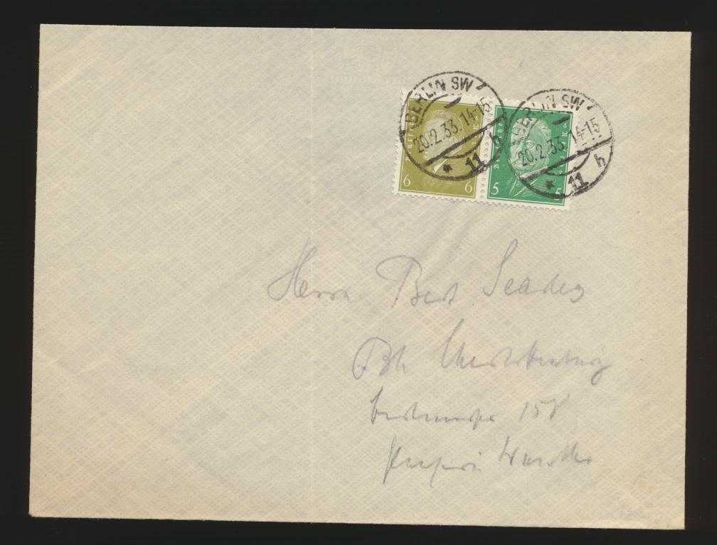 Reich R Brief Zusammendruck Reichspräsidenten W 28 Berlin Kat.-Wert 50,00 0