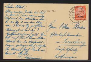 Besetzung 2. Weltkrieg Elsaß EF Künstler Ansichtskarte sign Straßburg n Saarburg
