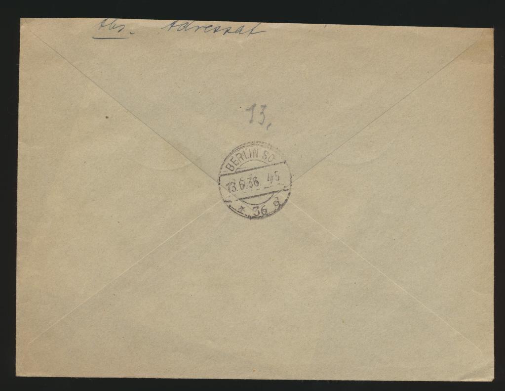 Reich R Brief MIF 617-0 SST Berlin Charlottenburg Ausstellung Deutsche Gemeinde 1