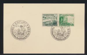 Reich WHW Zusammendruck mit 2 SST Erfurt Briefmarken Ausstellung für das WHW