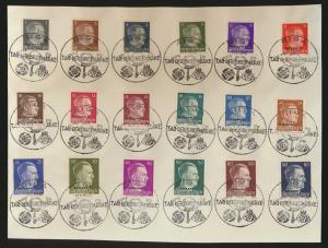 Besetzung Ostland 1-18 Satzbrief mit 18 gut abgeschl SST Riga Tag der Briefmarke
