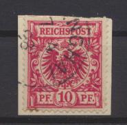 Kolonien DAP China Mitläufer M 47 a Briefstück Shanghai 7.4.1898 KatWert  100,00 0