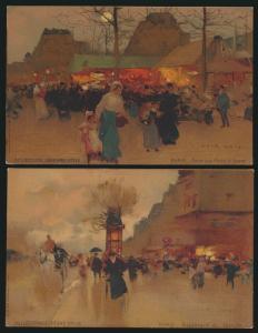 Ansichtskarte Frankreich France Paris 2 tolle Künstlerkarten sign. Loir Luigi