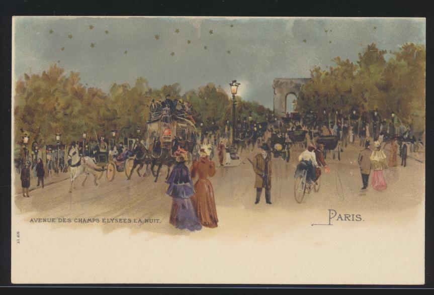 Ansichtskarte Frankreich France Paris sehr schöne Künstlerkarte 0