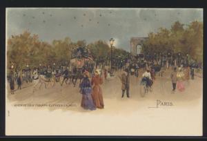 Ansichtskarte Frankreich France Paris sehr schöne Künstlerkarte