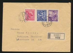 Besetzung Böhmen & Mähren R Brief 128-300 Wagner Komponist Pardubitz Pardubice