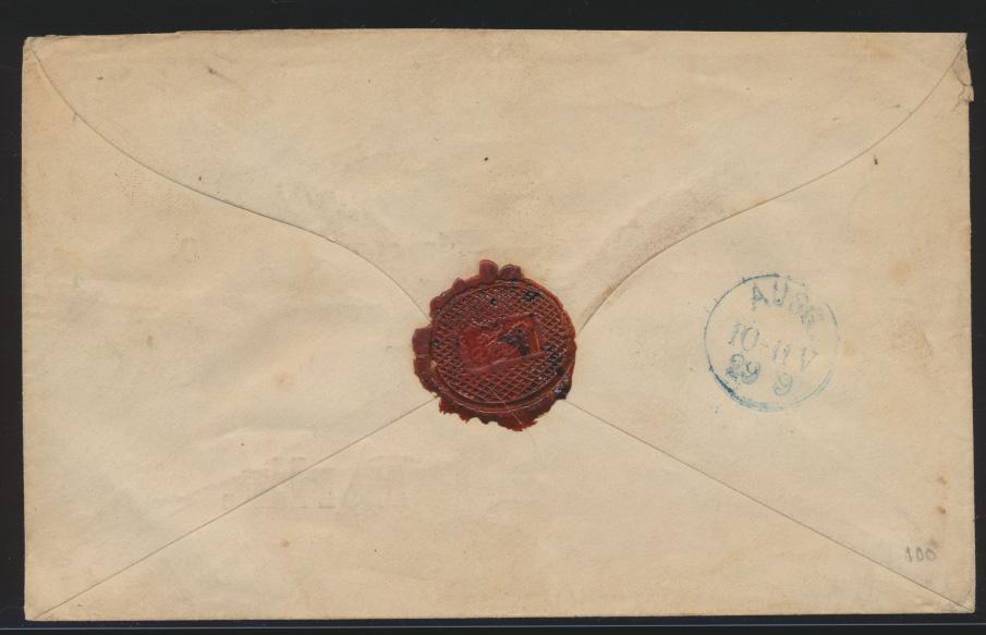 Altdeutschland Sachsen EF 17 K2 LEIPZIG P.E.N. No 1 nach Berlin 28.9.1866 1