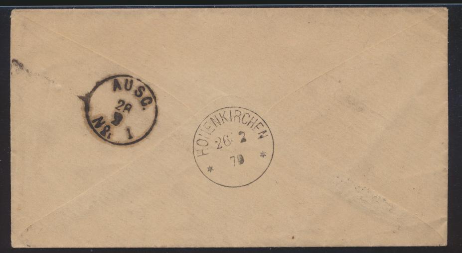 Deutsches Reich Brief EF Pfennige R3 DORNUM OSTFRIESLAND n. Oldenburg 24.2.1879 1