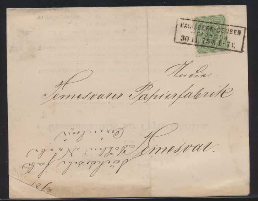 Reich Brief EF 5 Pfennige R 3 Hainsberg Deuben Sachsen 4seitge Preisliste Döhlen 0
