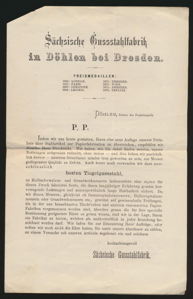 Reich Brief EF 5 Pfennige R 3 Hainsberg Deuben Sachsen 4seitge Preisliste Döhlen 1