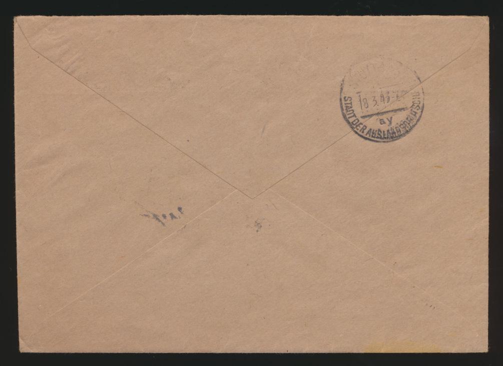 D. Reich R Brief Messe Leipzig n. Ak-St. Stuttgart Stadt der Auslandsdeutschen  1