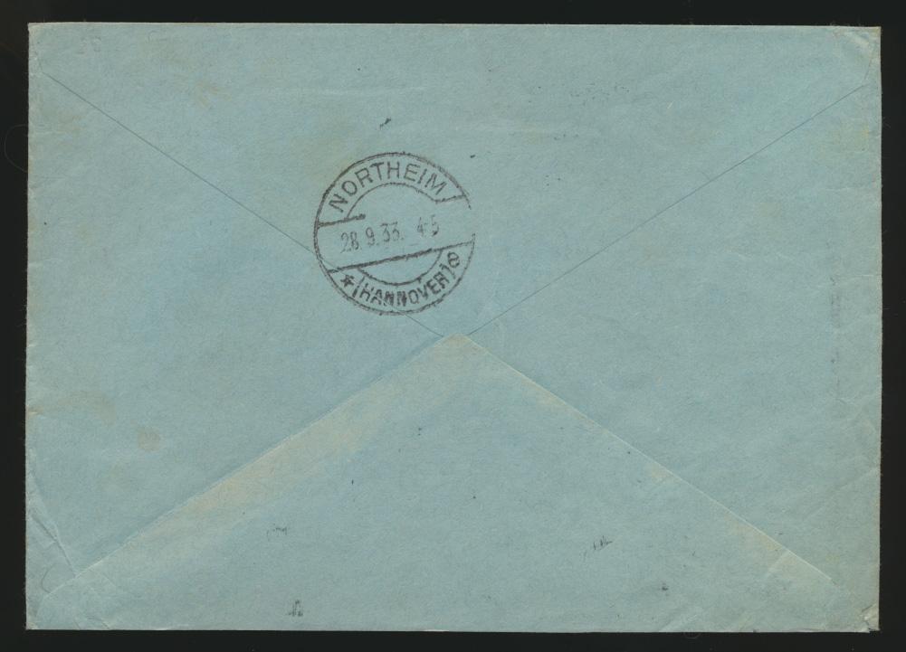 Deutsches Reich Eilboten Express Brief MIF 487 + 491 Hindenburg Köln n. Northeim 1