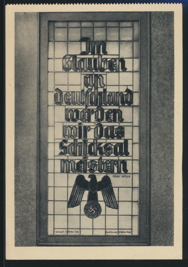 Deutsches Reich Propagandakarte Volk am Aufbau 811 FDC Hagen Gaukalender 1940 0