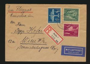 Reich Auslands R Brief Flugpost MIF 866-8 Luftpostdienst Berlin Wien Österreich